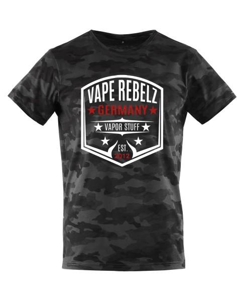 Vape Rebelz Herren T-Shirt dark Camouflage [URBAN CLASSICS]